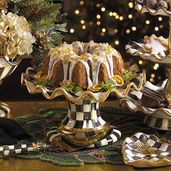 Courtly Check Fluted Cake Stand