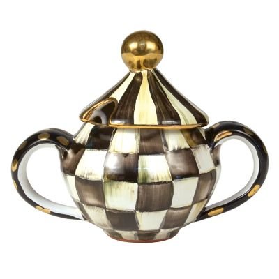Courtly Check Sugar Bowl with Lid