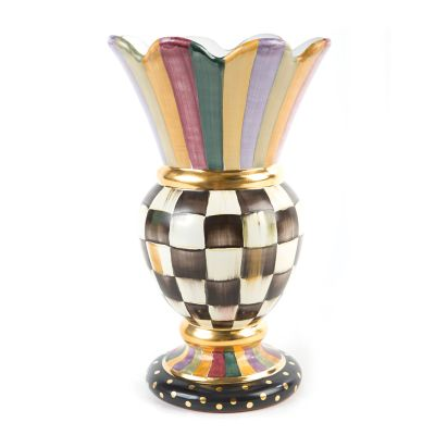 Courtly Check Commemorative Vase