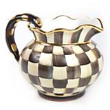 Courtly Check Fluted Pitcher