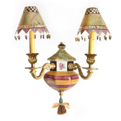 Torquay Wall Sconce - Red & Yellow