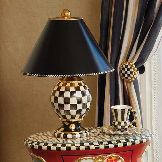 Mackenzie Childs Courtly Check Globe Lamp
