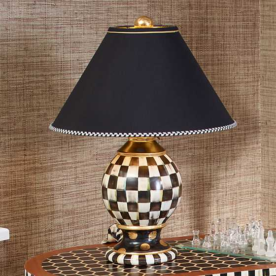 Mackenzie Childs Courtly Check Globe Lamp