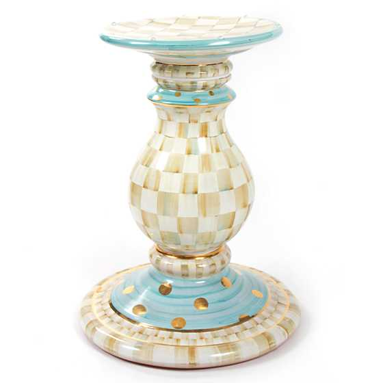 parchment check pedestal table base - Pedestal Table Base