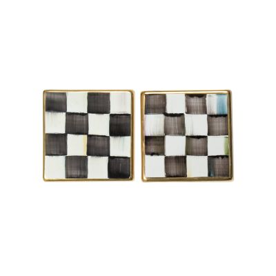 """4"""" Square Tile - Courtly Check"""