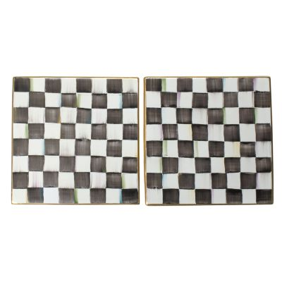 "8"" Square Tile - Courtly Check"