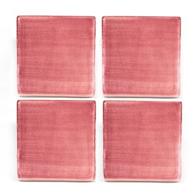 "8"" Square Tile - Raspberry"