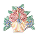Flower Basket Tile - Multicolor