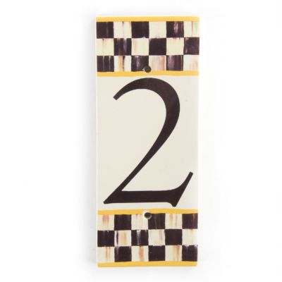 Courtly Check House Number - 2