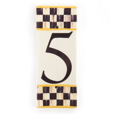 Courtly Check House Number - 5
