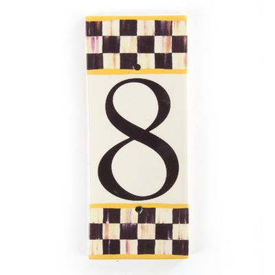 Courtly Check House Number - 8