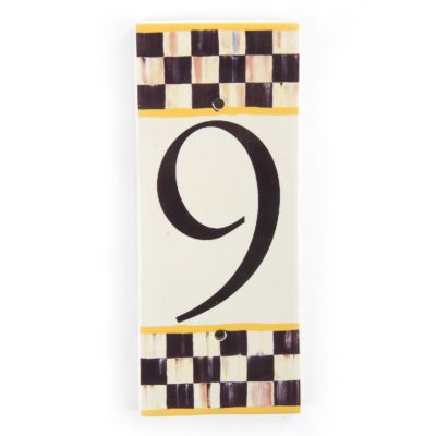 Courtly Check House Number - 9