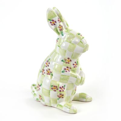 Quilted Bunny Bank - Green