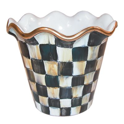 "4"" Courtly Check Flower Pot"