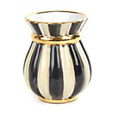 Courtly Stripe Brush Jar