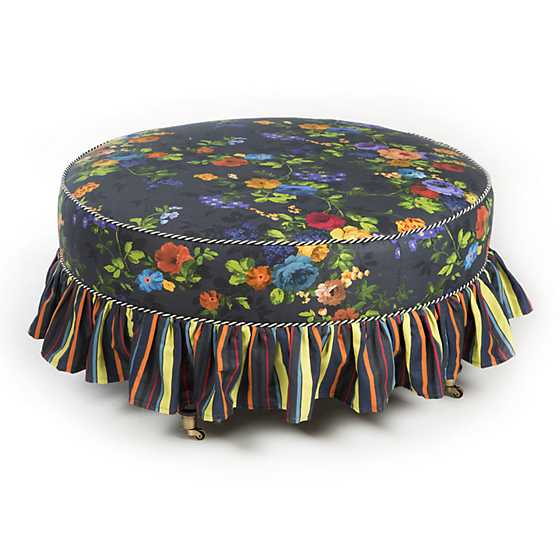 Mackenzie Childs Covent Garden Cocktail Ottoman