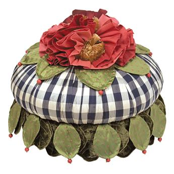 Ruffled Rosie Footstool