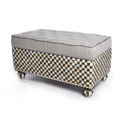 Courtly Check Underpinnings Small Blanket Bench