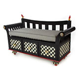 Courtly Check Boot Bench - Black