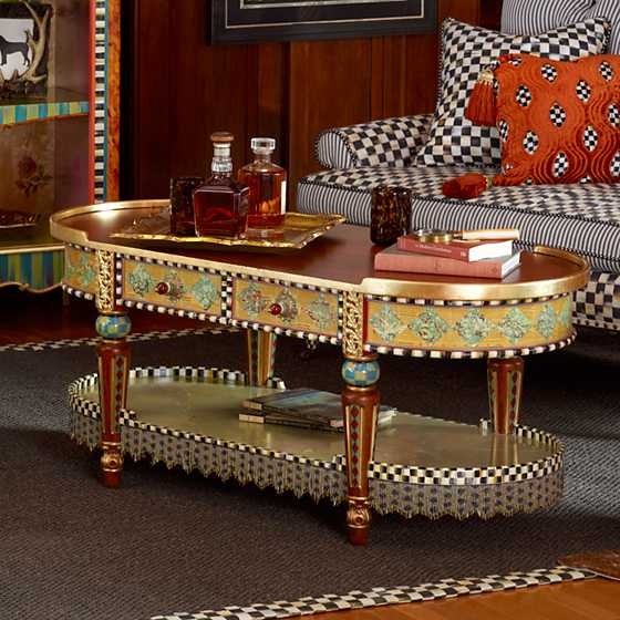 Mackenzie Childs Highland Coffee Table