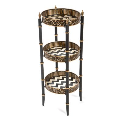 Zig Zag Three Tier Table