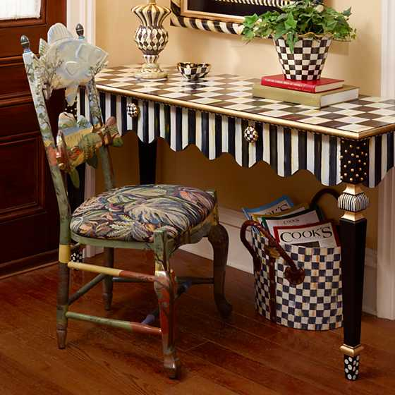 Mackenzie Childs Courtly Stripe Console Table