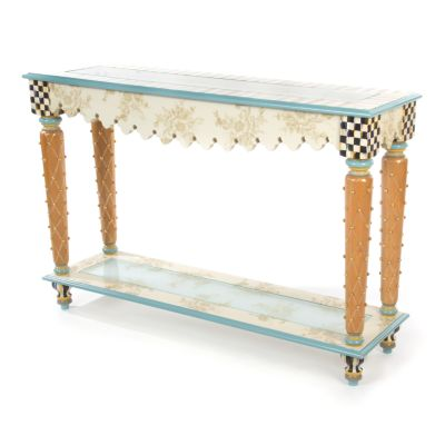 Pressed Flowers Console Table