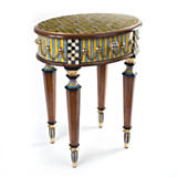 Boutonniere Oval Accent Table