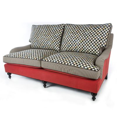 Underpinnings Studio Loveseat - Tomato