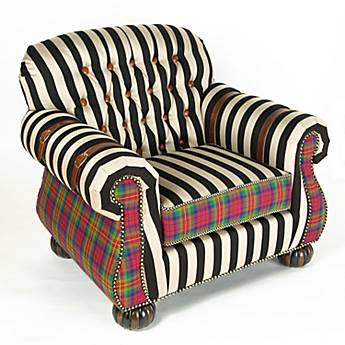 Courtly Campaign Club Chair