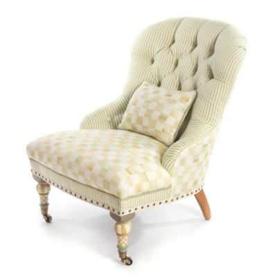 Parchment Check Underpinnings Accent Chair