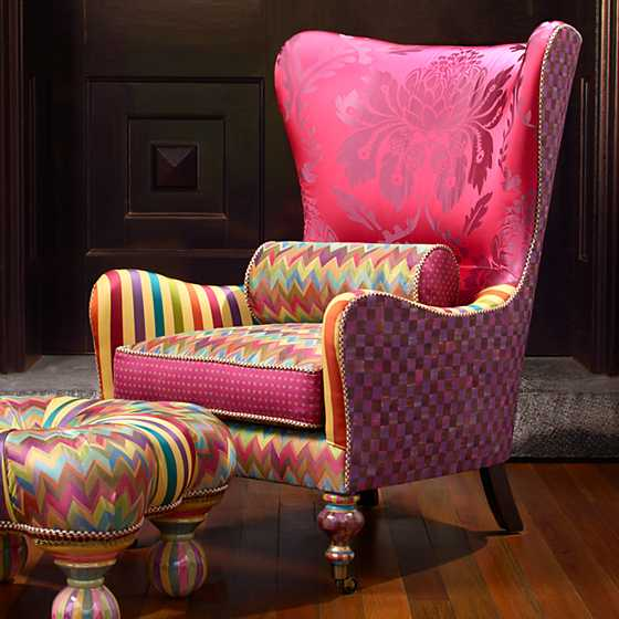 Kaleidoscope Wing Chair