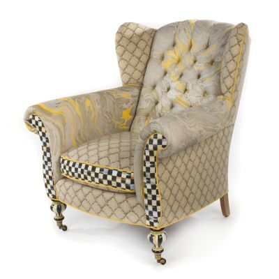 Courtly Palazzo Wing Chair