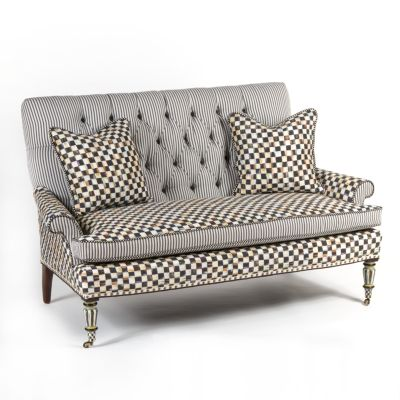 Courtly Check Underpinnings Loveseat