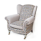 Courtly Check Underpinnings Classic Wing Chair