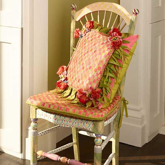 Mackenzie Childs Light Flower Basket Side Chair
