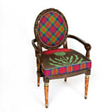 Dark Thistle Armchair