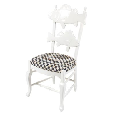 Cod Fish Chair with Courtly Check Seat