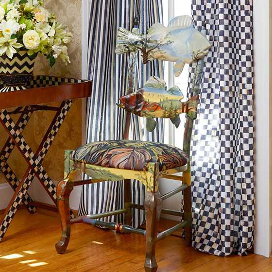 Mackenzie Childs Forest Fish Chair