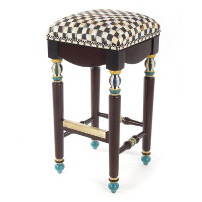 Courtly Check Underpinnings Bar Stool