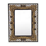 Courtly Check Embroidered Mirror - Small