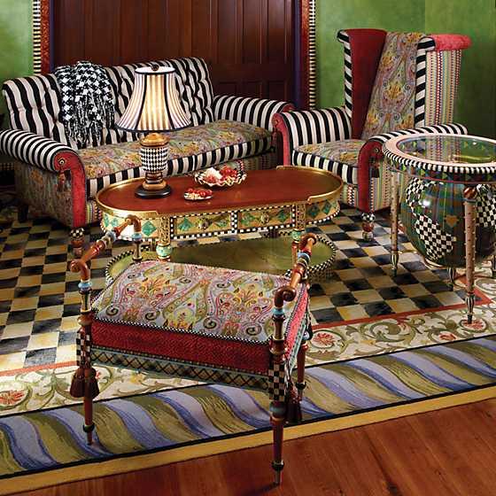 Mackenzie Childs Harlequin Table Lamp