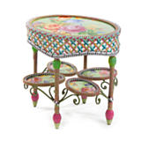 Greenhouse Outdoor Oval End Table
