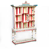 Butterfly Pagoda Bookshelf with Console Table