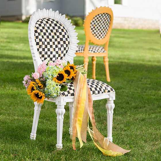 Sunflower Chair mackenzie-childs | sunflower outdoor chair - white