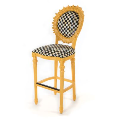 Sunflower Outdoor Bar Stool - Yellow