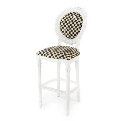 Sunflower Outdoor Bar Stool - White