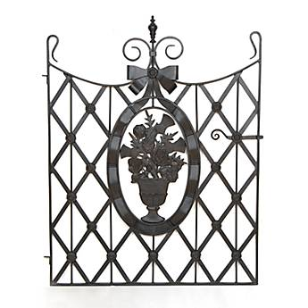Flower Basket Garden Gate