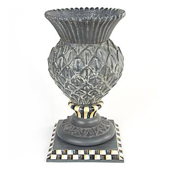 Courtly Check Garden Thistle Urn