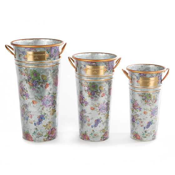 Flower Market Flower Buckets - Set of 3